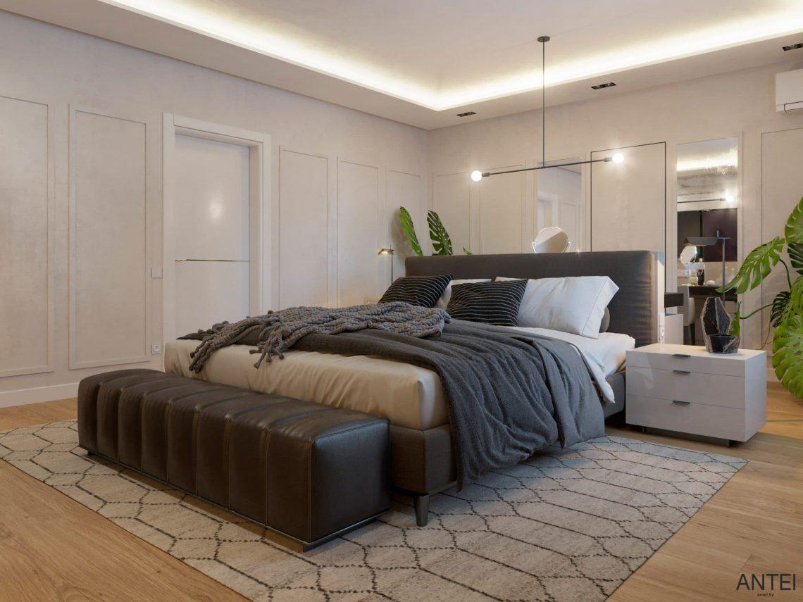 Дизайн интерьера двухэтажного дома в Гомеле, по ул. Брянская - спальня фото №4