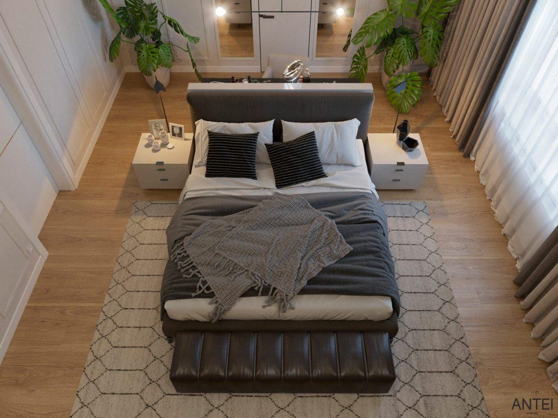 Дизайн интерьера двухэтажного дома в Гомеле, по ул. Брянская - спальня фото №5