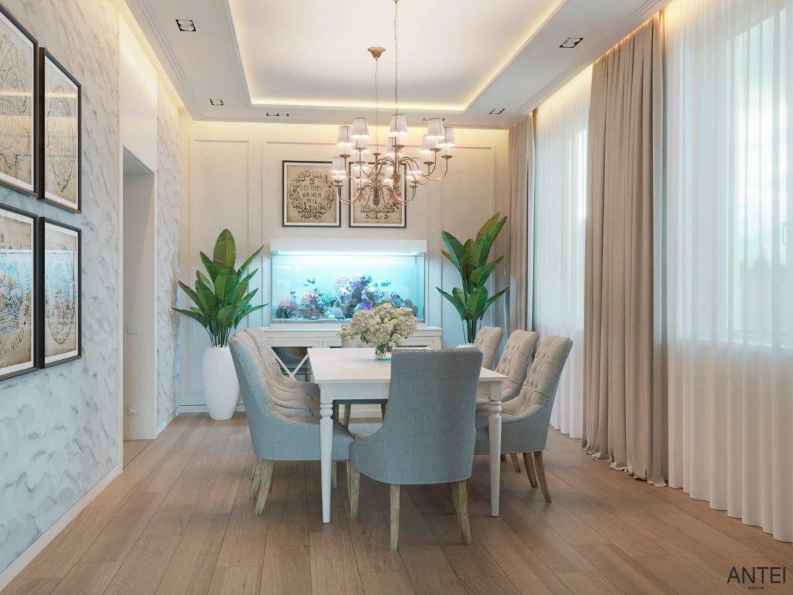 Дизайн интерьера двухэтажного дома в Гомеле, по ул. Брянская - столовая фото №2