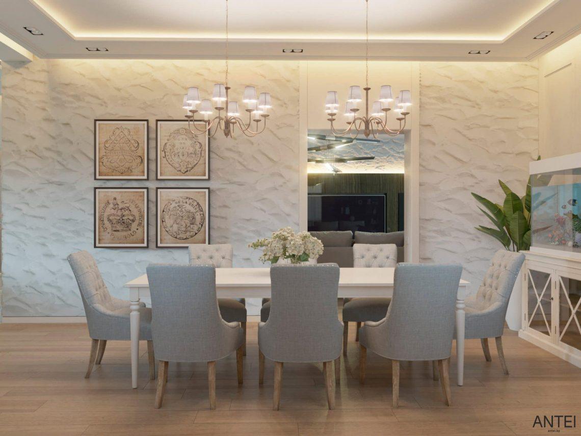 Дизайн интерьера двухэтажного дома в Гомеле, по ул. Брянская - столовая фото №4