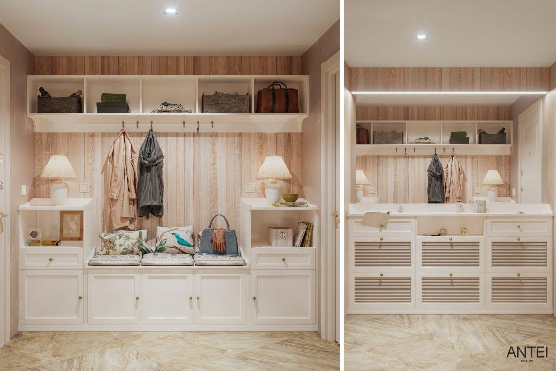Дизайн интерьера трехкомнатной квартиры в Гомеле, ул. Бородина - тамбур фото №1