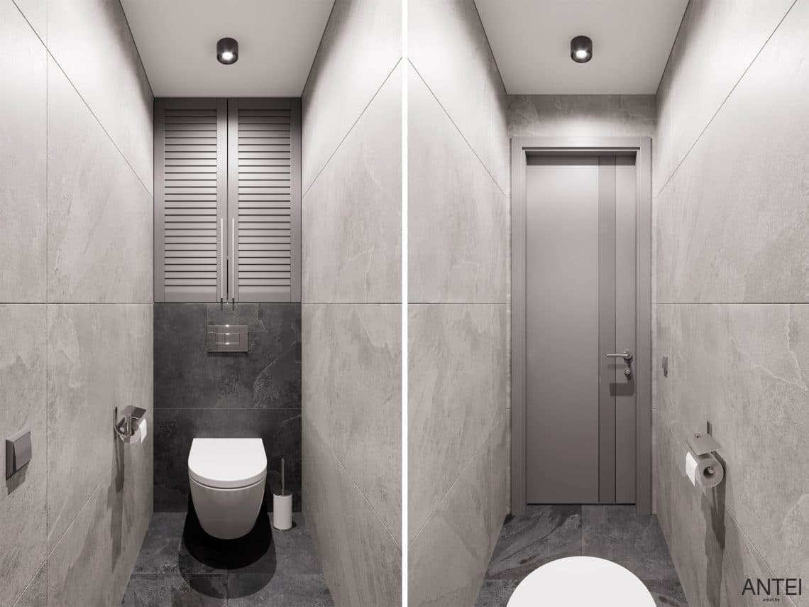 Дизайн интерьера трехкомнатной квартиры в Гомеле, по ул. Садовая - уборная фото №1