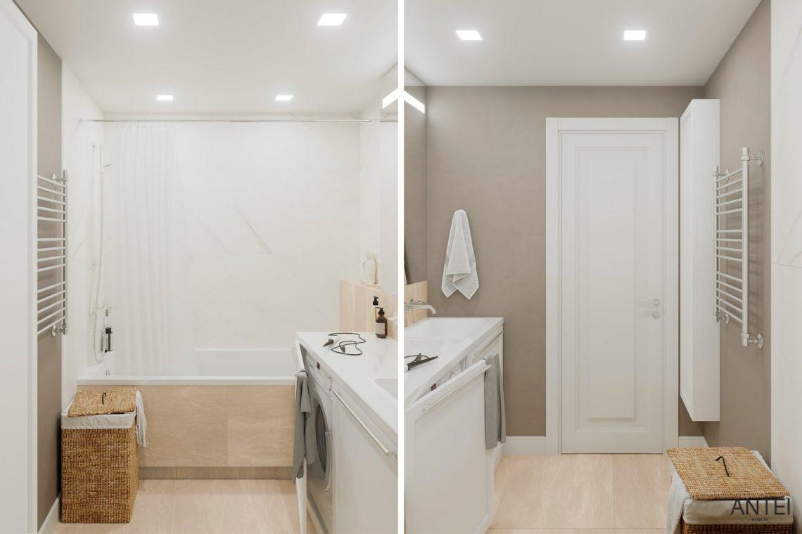 Дизайн интерьера трехкомнатной квартиры в Гомеле, ул. Бородина - ванная фото №1