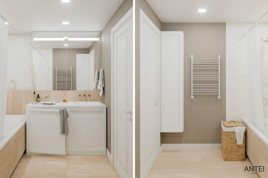 Дизайн интерьера трехкомнатной квартиры в Гомеле, ул. Бородина - ванная фото №2