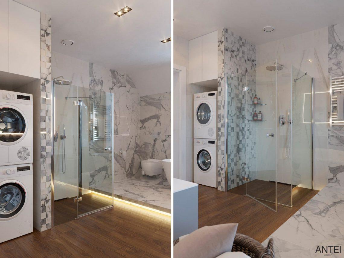 Дизайн интерьера двухэтажного дома в Гомеле, по ул. Брянская - ванная фото №3