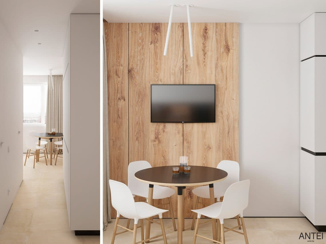 Дизайн интерьера трехкомнатной квартиры в Речице, ул. Наумова - кухня фото №4