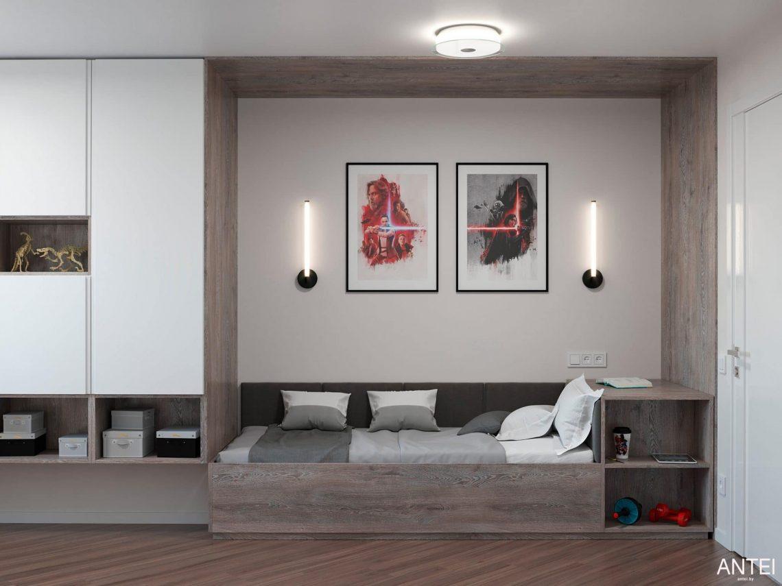 Дизайн интерьера трехкомнатной квартиры в Гомеле, по ул. Бородина - детская комната фото №2