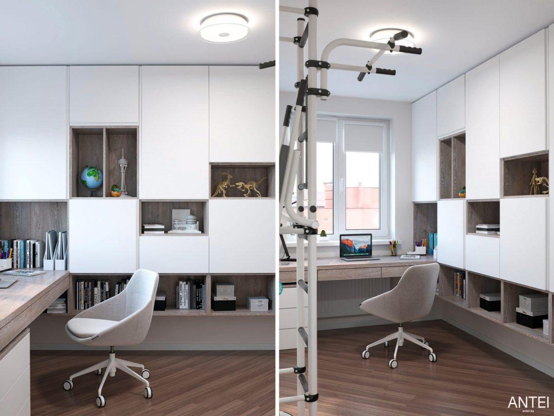 Дизайн интерьера трехкомнатной квартиры в Гомеле, по ул. Бородина - детская комната фото №3
