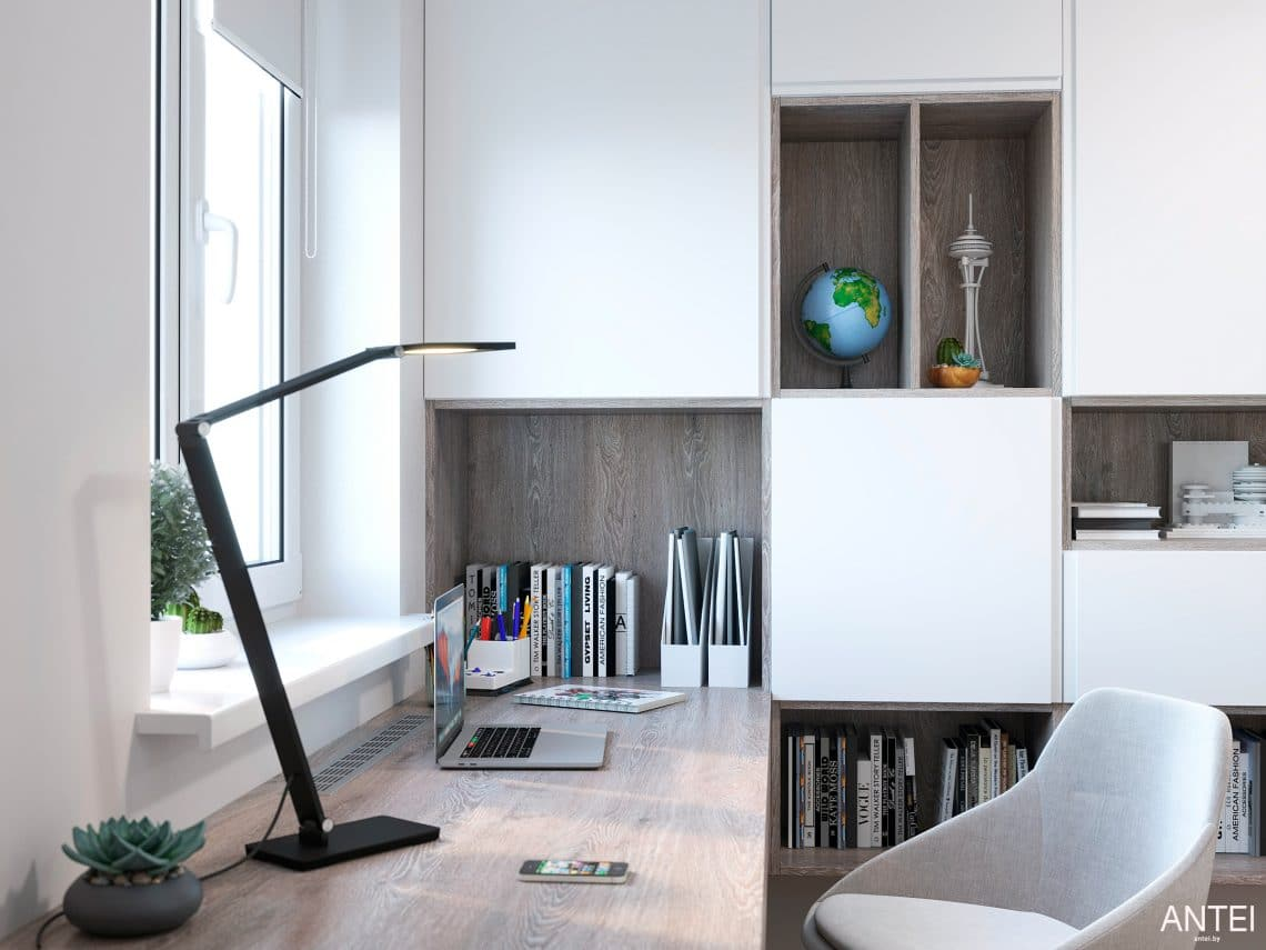 Дизайн интерьера трехкомнатной квартиры в Гомеле, по ул. Бородина - детская комната фото №4