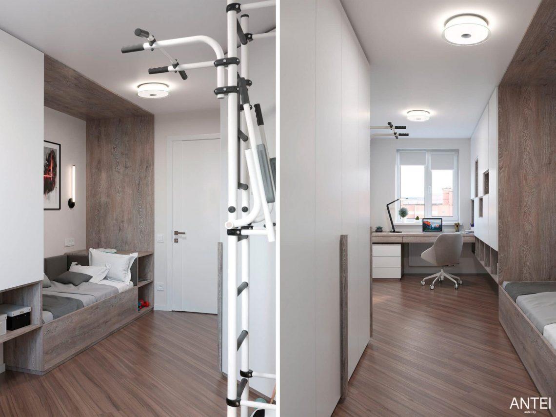 Дизайн интерьера трехкомнатной квартиры в Гомеле, по ул. Бородина - детская комната фото №1
