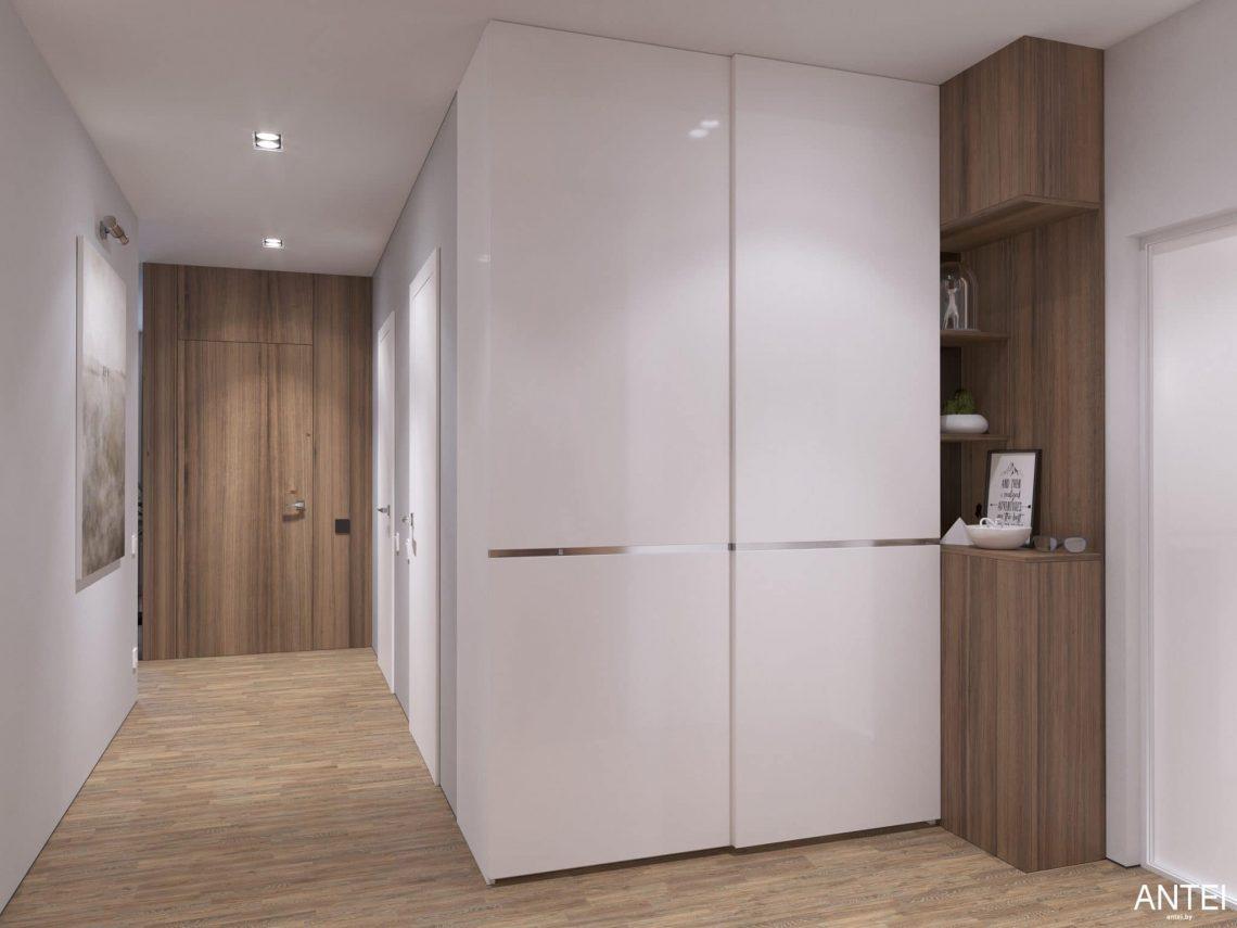 Дизайн интерьера трехкомнатной квартиры в Минске, ЖК Минск Мир - прихожая фото №2