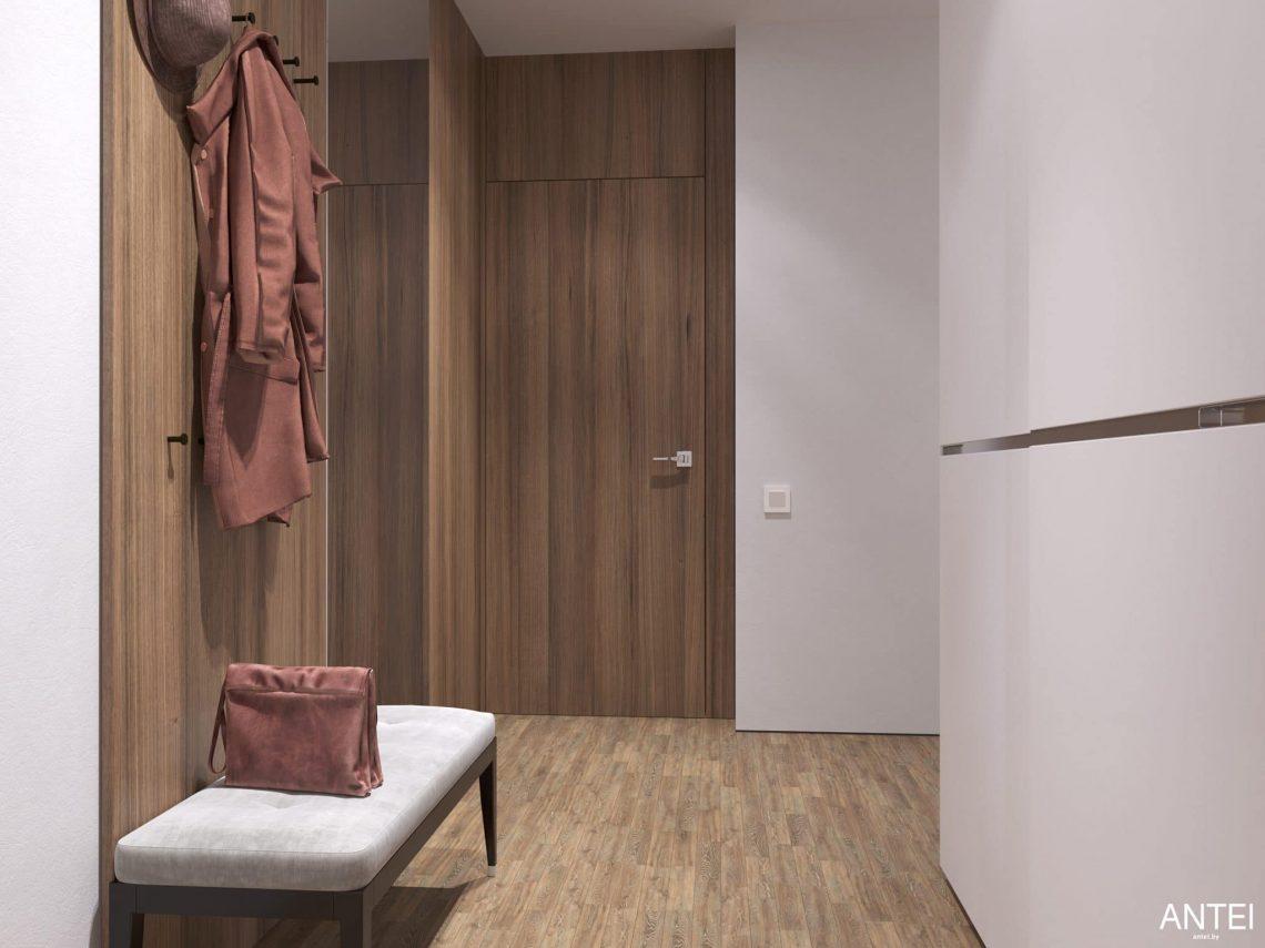 Дизайн интерьера трехкомнатной квартиры в Минске, ЖК Минск Мир - прихожая фото №3