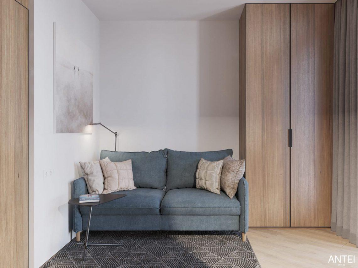Дизайн интерьера трехкомнатной квартиры в Минске, ЖК Минск Мир - кабинет фото №4