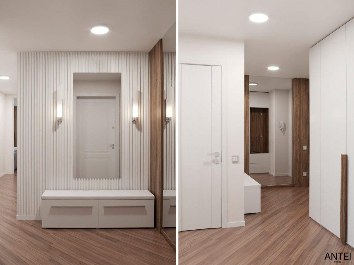 Дизайн интерьера трехкомнатной квартиры в Гомеле, по ул. Бородина - прихожая фото №1
