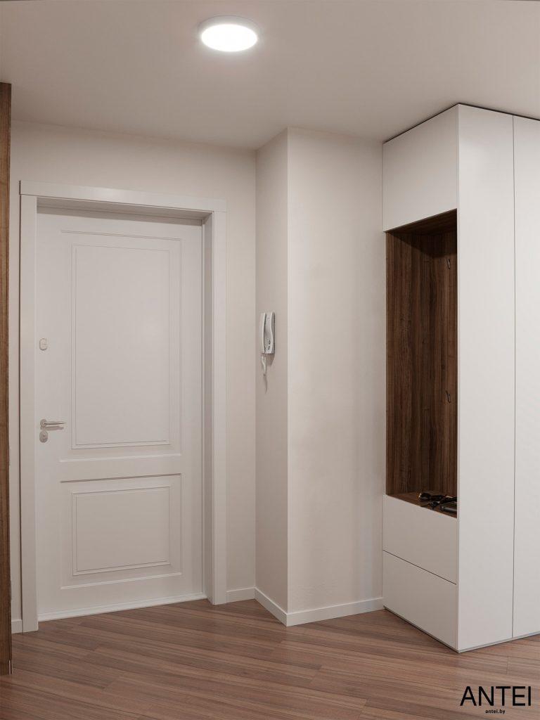 Дизайн интерьера трехкомнатной квартиры в Гомеле, по ул. Бородина - прихожая фото №2
