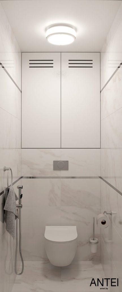 Дизайн интерьера трехкомнатной квартиры в Гомеле, по ул. Бородина - санузел фото №1