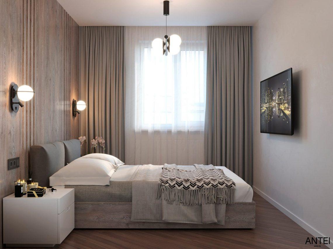 Дизайн интерьера трехкомнатной квартиры в Гомеле, по ул. Бородина - спальня фото №1