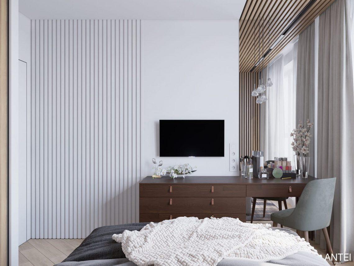 Дизайн интерьера трехкомнатной квартиры в Минске, ЖК Минск Мир - спальня фото №2
