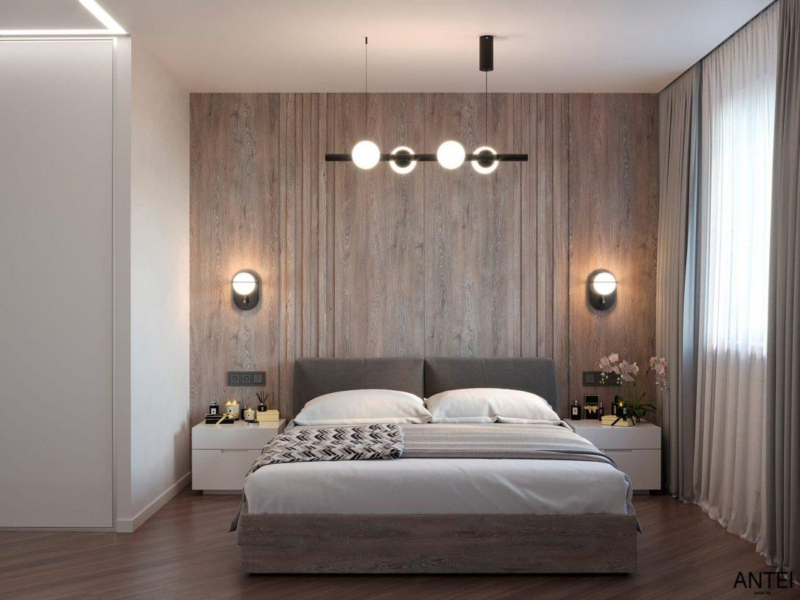 Дизайн интерьера трехкомнатной квартиры в Гомеле, по ул. Бородина - спальня фото №2