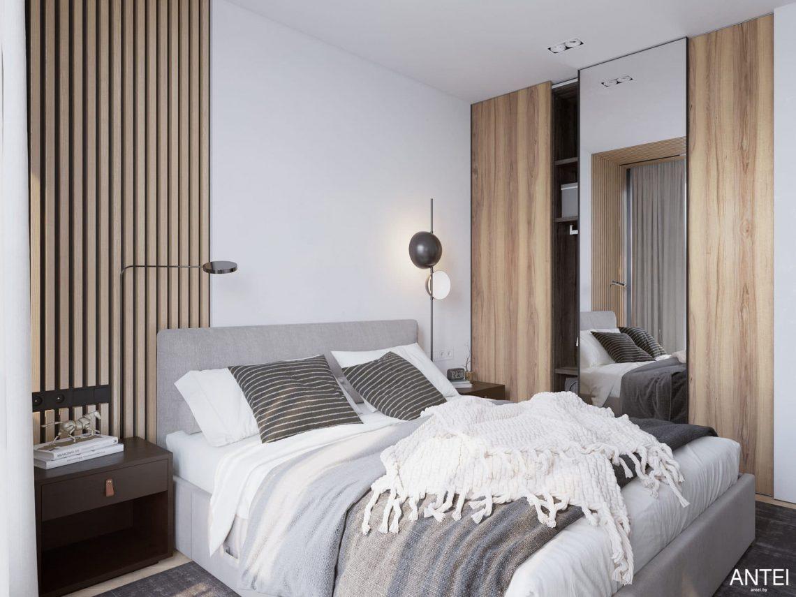 Дизайн интерьера трехкомнатной квартиры в Минске, ЖК Минск Мир - спальня фото №3