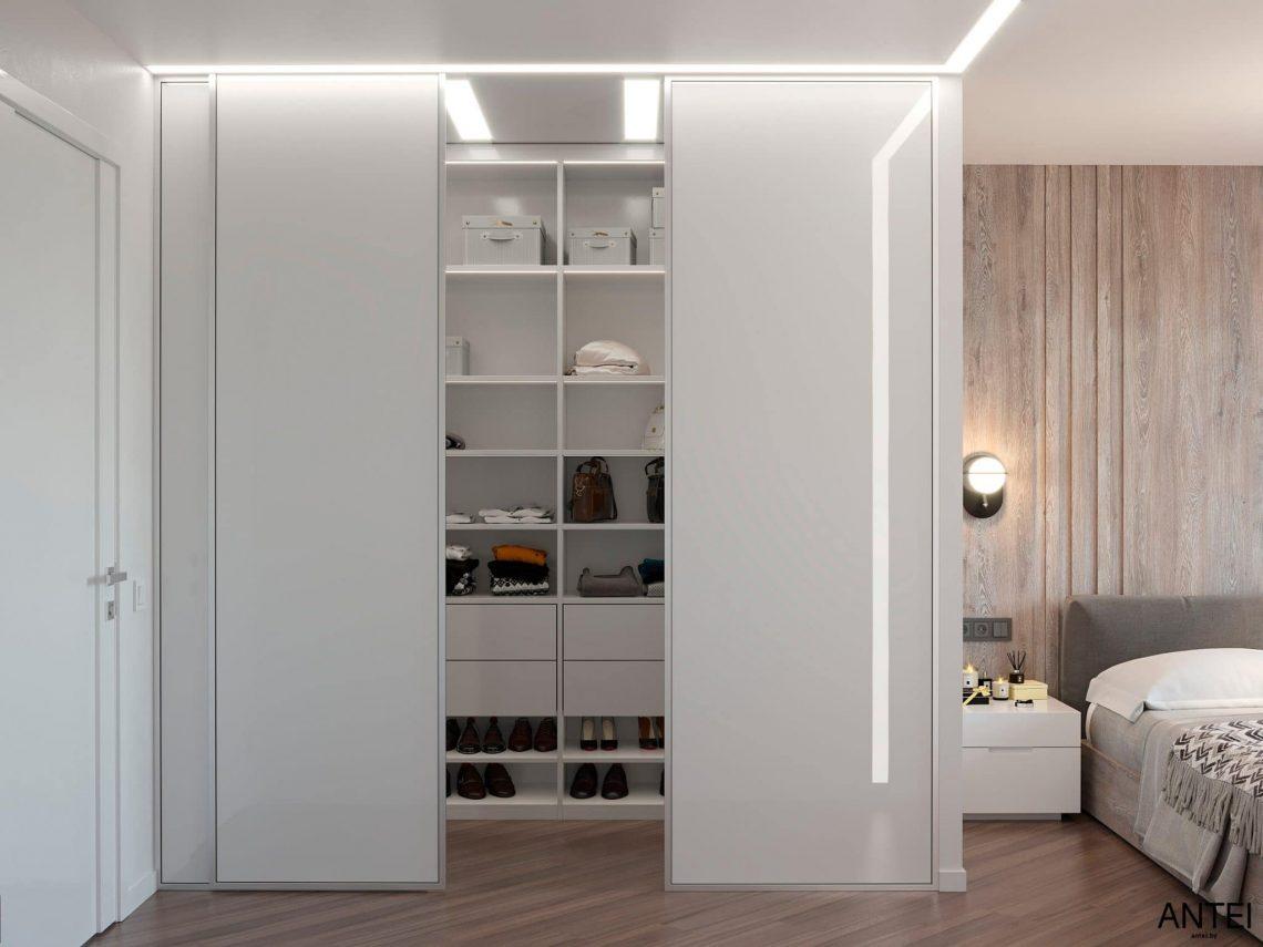 Дизайн интерьера трехкомнатной квартиры в Гомеле, по ул. Бородина - спальня фото №3
