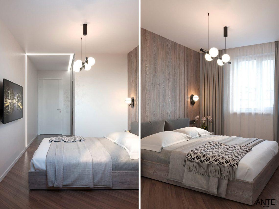 Дизайн интерьера трехкомнатной квартиры в Гомеле, по ул. Бородина - спальня фото №4