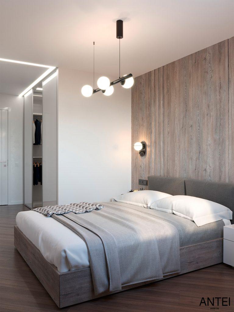 Дизайн интерьера трехкомнатной квартиры в Гомеле, по ул. Бородина - спальня фото №5