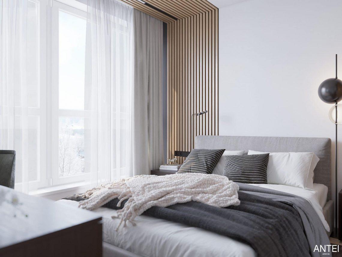 Дизайн интерьера трехкомнатной квартиры в Минске, ЖК Минск Мир - спальня фото №6