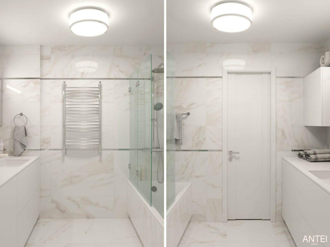 Дизайн интерьера трехкомнатной квартиры в Гомеле, по ул. Бородина - ванная фото №2